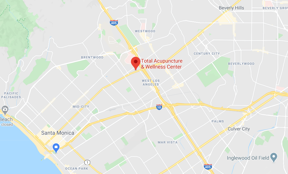 google maps image of total wellness location pin