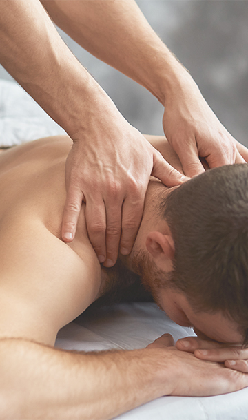 back massage by professional therapist